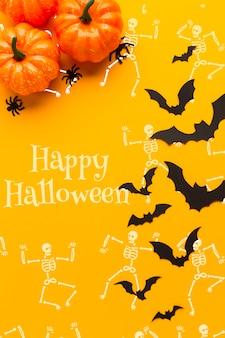 Sorteo específico del esqueleto del día de halloween