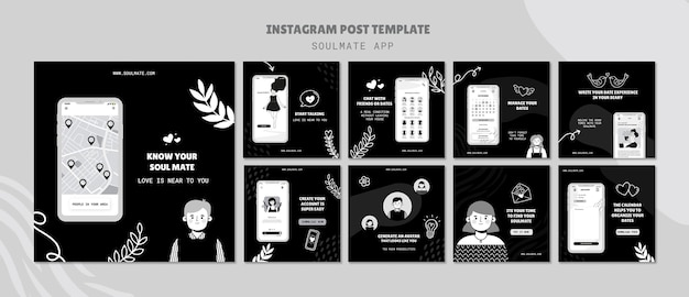Soulmate app social media berichten