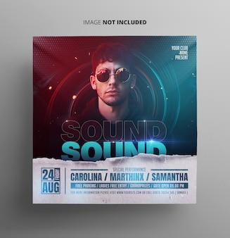 Sound event music flyer