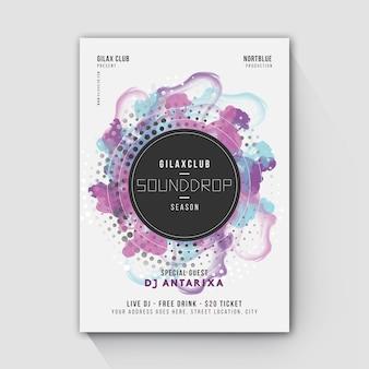 Sounddrop party flyer