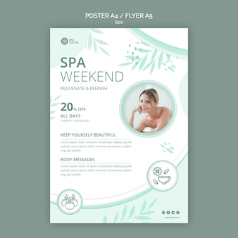 Spa concept poster sjabloon