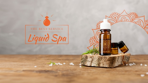 Spa masaje con productos naturales.