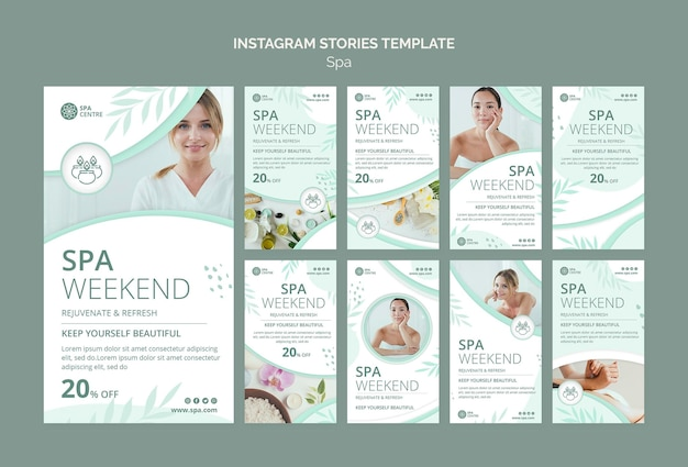 Spa weekend instagram verhalen sjabloon