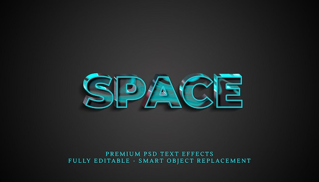 Space text style effect psd, premium psd text effects