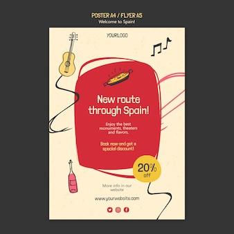 Spanje cultuur flyer-sjabloon