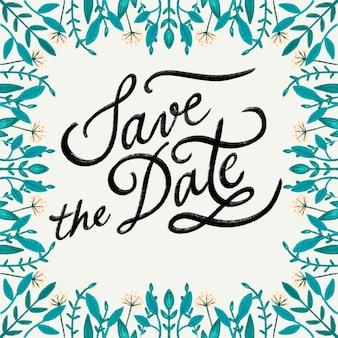 Sparen de uitnodiging van de datumbloem
