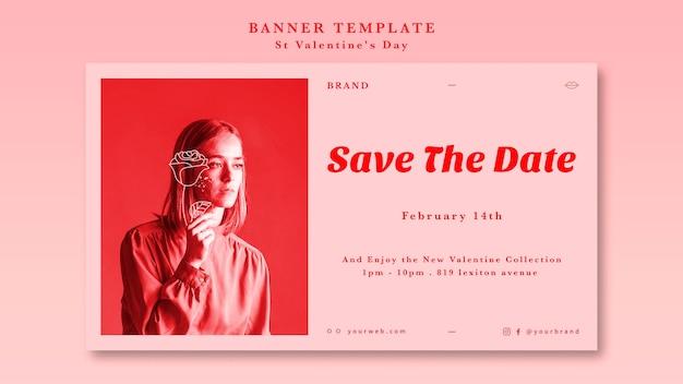 Sparen het datummeisje van bannermalplaatje
