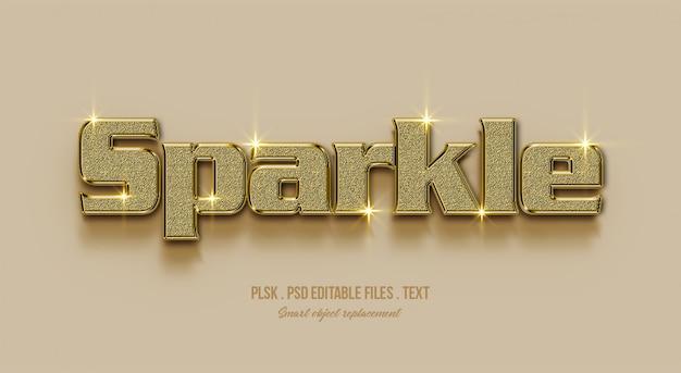 Sparkle effetto di stile testo 3d