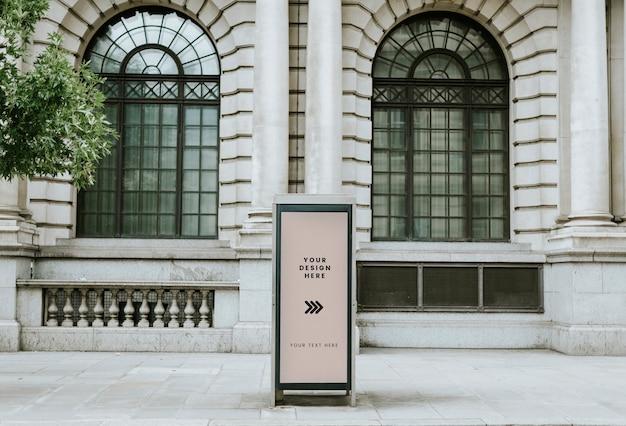 Spazio di progettazione cartello