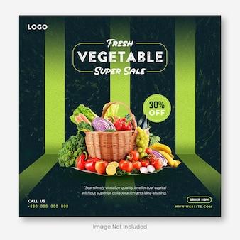 Speciaal ontwerp voor voedselbanners op sociale media