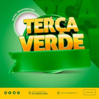 Speciale aanbieding 3d promotie terca verde in brazil