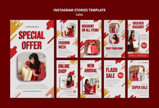 Speciale aanbieding instagram verhalen sjabloon Premium Psd
