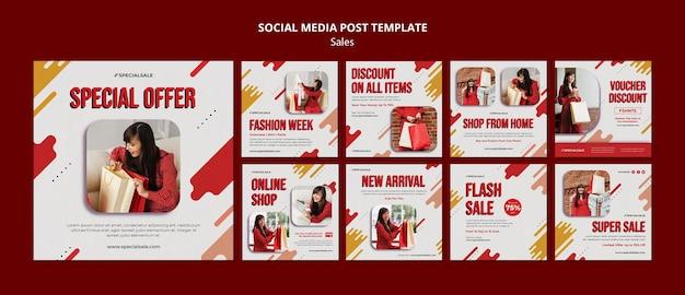 Speciale aanbieding social media postsjabloon Premium Psd