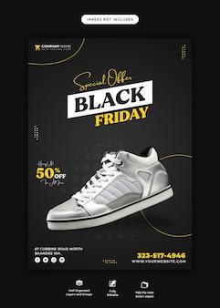 Speciale aanbieding zwarte vrijdag flyer-sjabloon