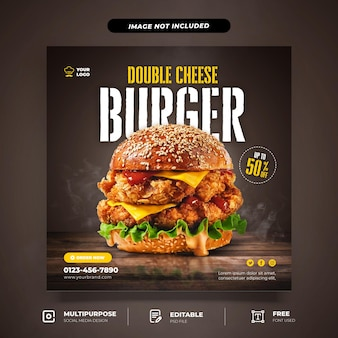 Speciale burger promotie social media template