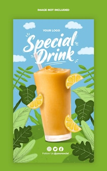 speciale drank instagram verhaalsjabloon