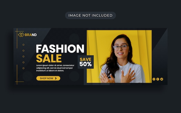 Speciale fashion sale promotie facebook-omslagontwerp