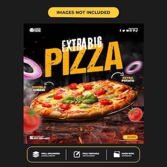 Speciale heerlijke pizza social media banner postsjabloon