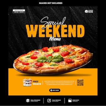Speciale heerlijke pizza social media postsjabloon