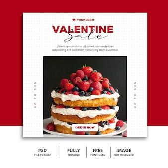 Speciale valentijnsuitverkoop voor social media-berichten
