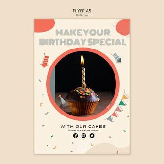 Speciale verjaardag flyer-sjabloon