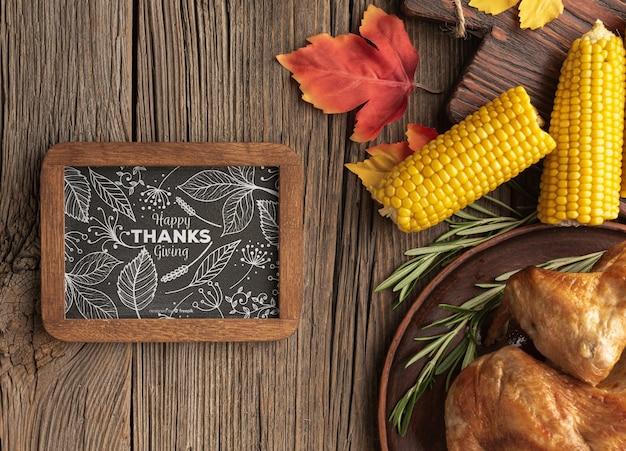 Specifiek concept van thanksgiving dayvoedsel Gratis Psd