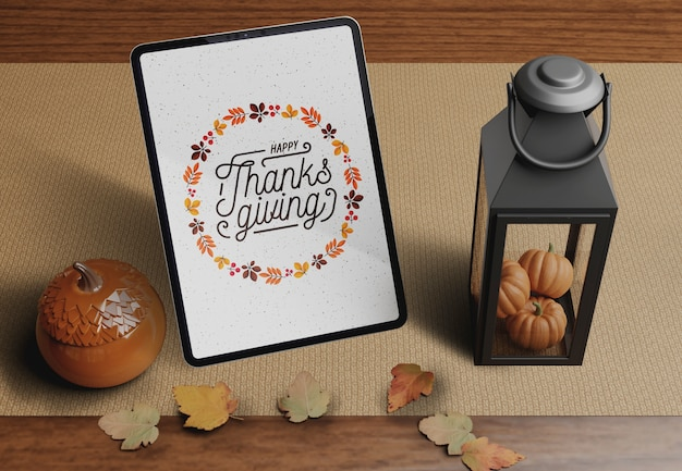 Specifieke decoraties op thanksgiving day