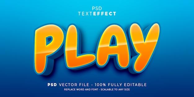 Speel tekst en lettertype-effect bewerkbare sjabloon af