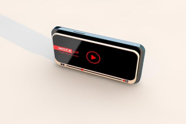 Speel video online mockup en moderne smartphone