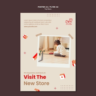 Speelgoedwinkel sjabloon poster