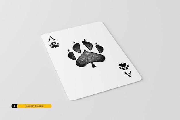 Speelkaart mockup