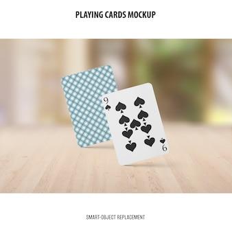 Speelkaarten mockup