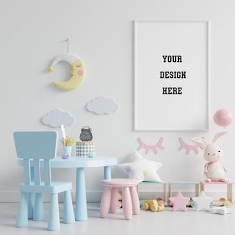 Speelkamer voor kinderen met mock up poster