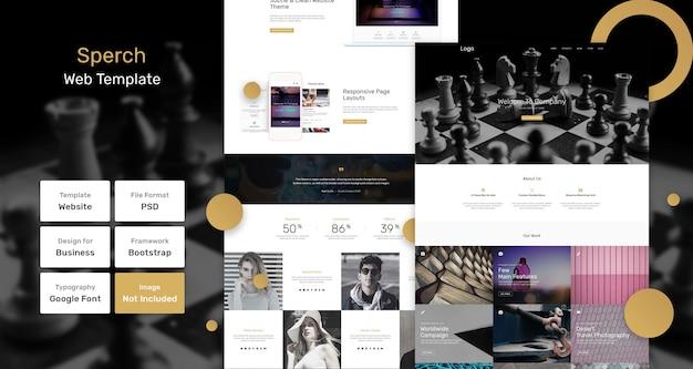 Sperch portfolio websjabloon