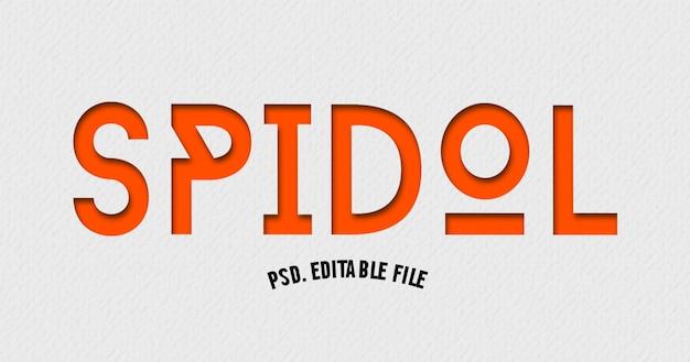 Spidol-lettertype in moderne tekst