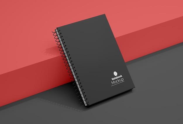 Spiraal bindmiddel notebook mockup-ontwerp