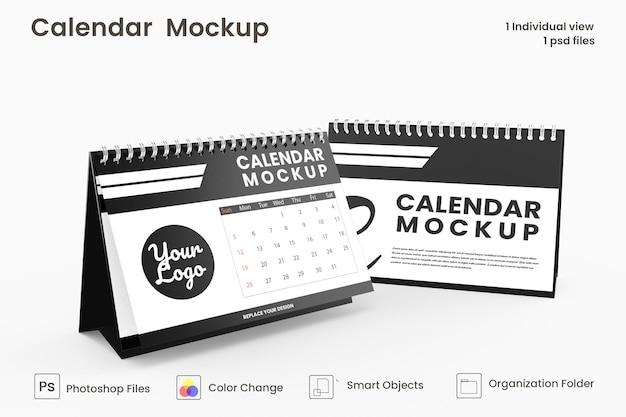 Spiraalvormig bureaukalender mockup-ontwerp