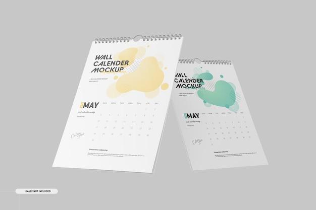 Spiraalvormige wandkalendermodel