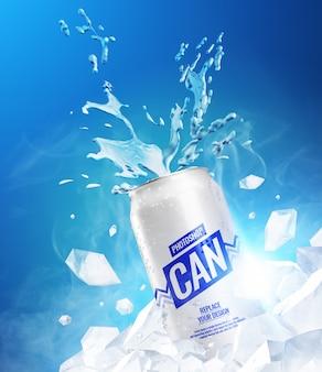 Splash congelado puede maqueta