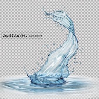Splash van water vloeistof geïsoleerd