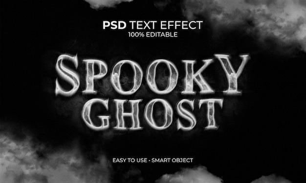 Spooky ghost tekst effect