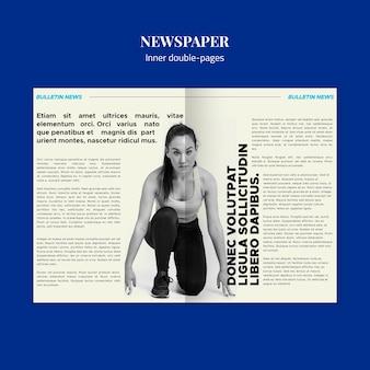 Spor kranten binnen dubbele pagina's