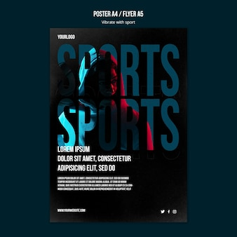 Sport advertentie poster sjabloon
