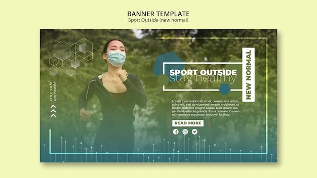 Sport buiten banner