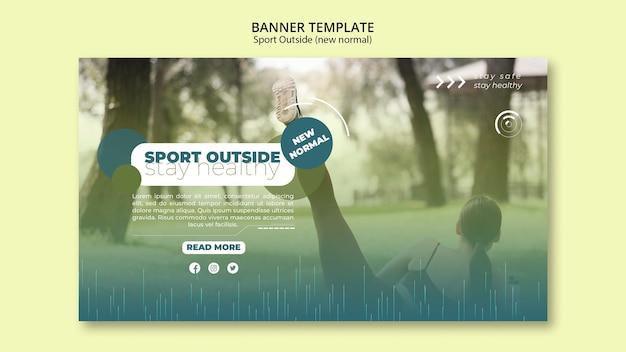 Sport buiten bannerontwerp