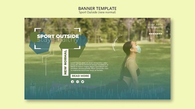 Sport buiten banners ontwerp