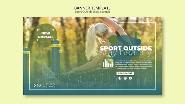 Sport buiten banners sjabloon