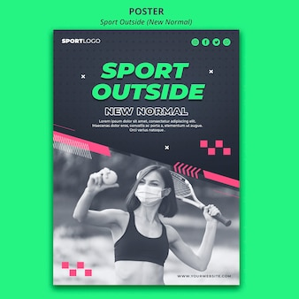 Sport buiten concept poster stijl