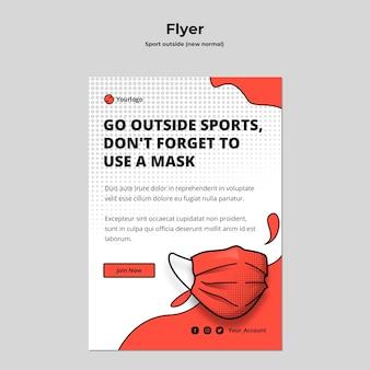 Sport buiten flyer-sjabloon