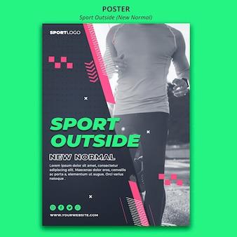 Sport buiten posterontwerp